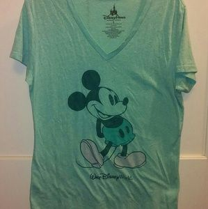Disney Mint Green Mickey Mouse tee size Large